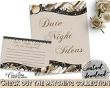 Brown And Beige Seashells And Pearls Bridal Shower Theme: Date Night Ideas - hens night, nautical theme, party plan, party planning - 65924 - Digital Product