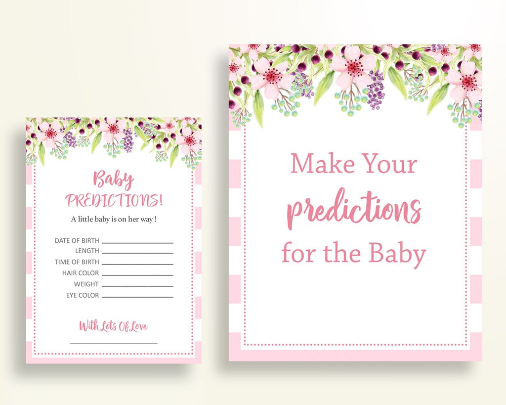 Baby Predictions Baby Shower Baby Predictions Pink Baby Shower Baby Predictions Baby Shower Flowers Baby Predictions Pink Green party 5RQAG - Digital Product