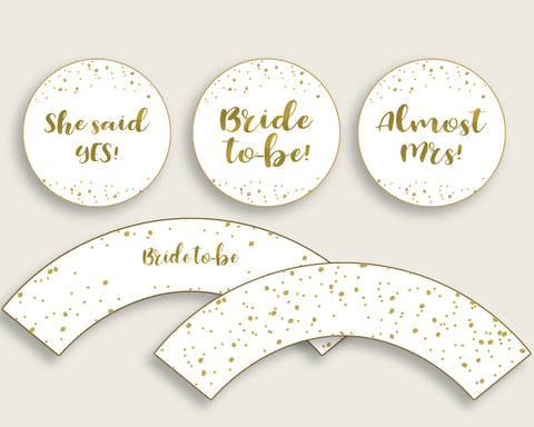 Cupcake Toppers And Wrappers Bridal Shower Cupcake Toppers And Wrappers Gold Bridal Shower Cupcake Toppers And Wrappers Bridal Shower G2ZNX