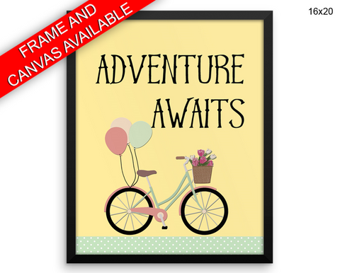Adventure Print, Beautiful Wall Art with Frame and Canvas options available Kids Decor