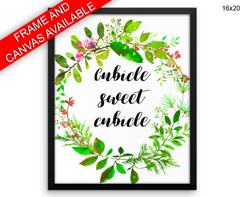Cubicle Sweet Cubicle Print, Beautiful Wall Art with Frame and Canvas options available Office Decor