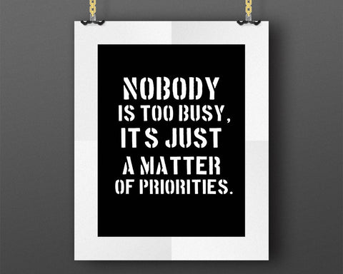 Wall Art Priorities Digital Print Priorities Poster Art Priorities Wall Art Print Priorities  Wall Decor Priorities lessons reminder - Digital Download