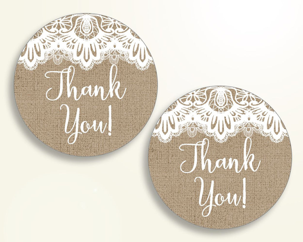 Favor Tags Baby Shower Favor Tags Burlap Lace Baby Shower Favor Tags Baby Shower Burlap Lace Favor Tags Brown White party ideas W1A9S - Digital Product