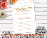 Bachelorette Weekend Invitation Bridal Shower Bachelorette Weekend Invitation Pink And Gold Bridal Shower Bachelorette Weekend XZCNH - Digital Product