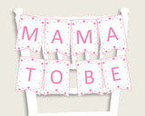 Twinkle Star Baby Shower Chair Banner Printable, Pink Gold Chair Banner, Girl Shower, Mama To Be, Mommy, Dad Mom To Be, Instant bsg01