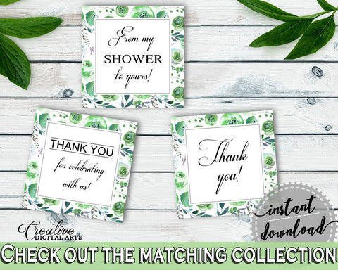 Favor Tags Bridal Shower Favor Tags Botanic Watercolor Bridal Shower Favor Tags Bridal Shower Botanic Watercolor Favor Tags Green 1LIZN - Digital Product