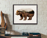 Wall Decor Bear Printable Bear Prints Bear Sign Bear Bear_ Gift Art Bear Bear_ Gift Print Bear Printable Art Bear Multiple Exposure - Digital Download