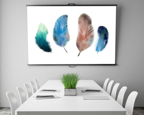 Feathers Prints Wall Art Watercolor Digital Download Feathers Living Room Art Watercolor Living Room Print Feathers Instant Download - Digital Download