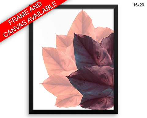 Autumn Leaves Print, Beautiful Wall Art with Frame and Canvas options available Plant Decor