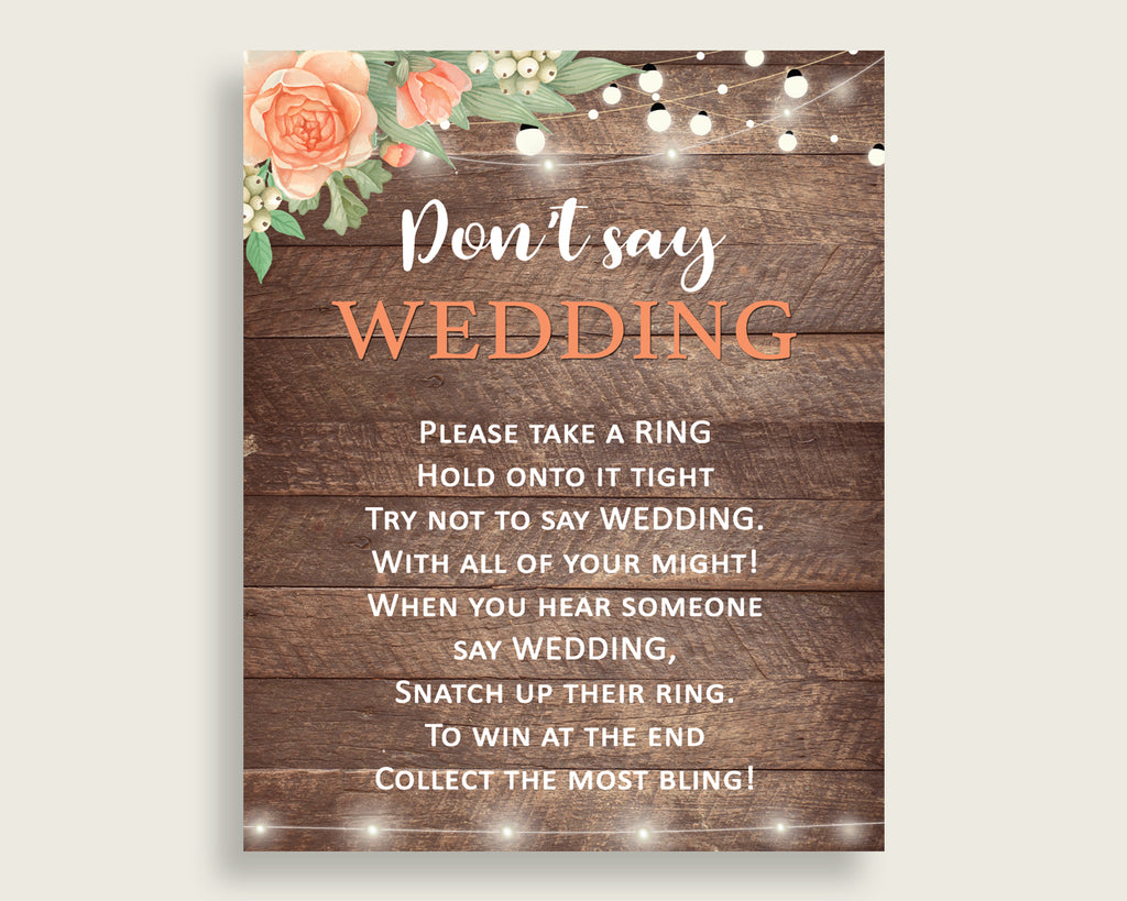 Don't Say Wedding Game Bridal Shower Don't Say Wedding Game Rustic Bridal Shower Don't Say Wedding Game Bridal Shower Flowers Don't SC4GE