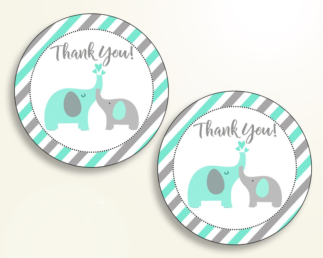Favor Tags Baby Shower Favor Tags Turquoise Baby Shower Favor Tags Baby Shower Elephant Favor Tags Green Gray party organising baby 5DMNH - Digital Product