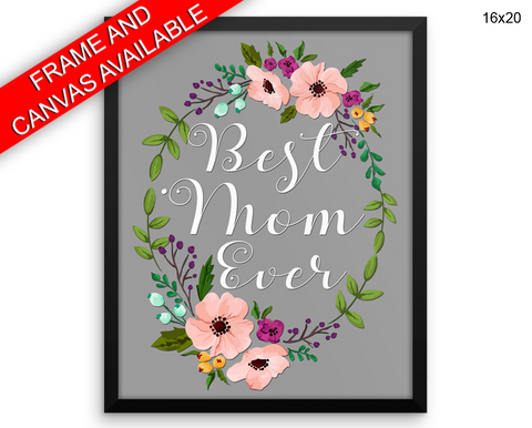 Mom Mommy Print, Beautiful Wall Art with Frame and Canvas options available Home Decor