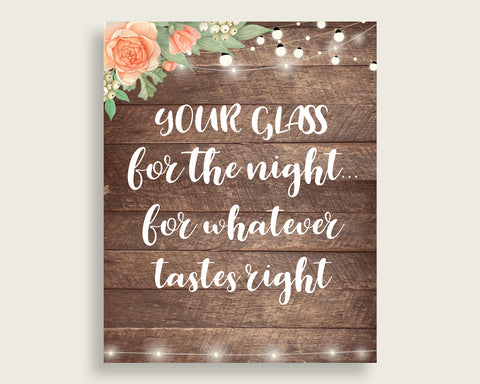 Your Glass For The Night Bridal Shower Your Glass For The Night Rustic Bridal Shower Your Glass For The Night Bridal Shower Flowers SC4GE