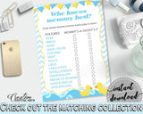 Baby Shower Rubber Rubber Ducky Mommy Trivia Baby Eyes WHO KNOWS MOMMY Best, Party Décor, Paper Supplies, Customizable Files - rd002 - Digital Product