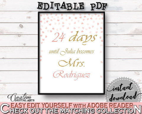 Days Until Becomes Bridal Shower Days Until Becomes Pink And Gold Bridal Shower Days Until Becomes Bridal Shower Pink And Gold Days XZCNH - Digital Product