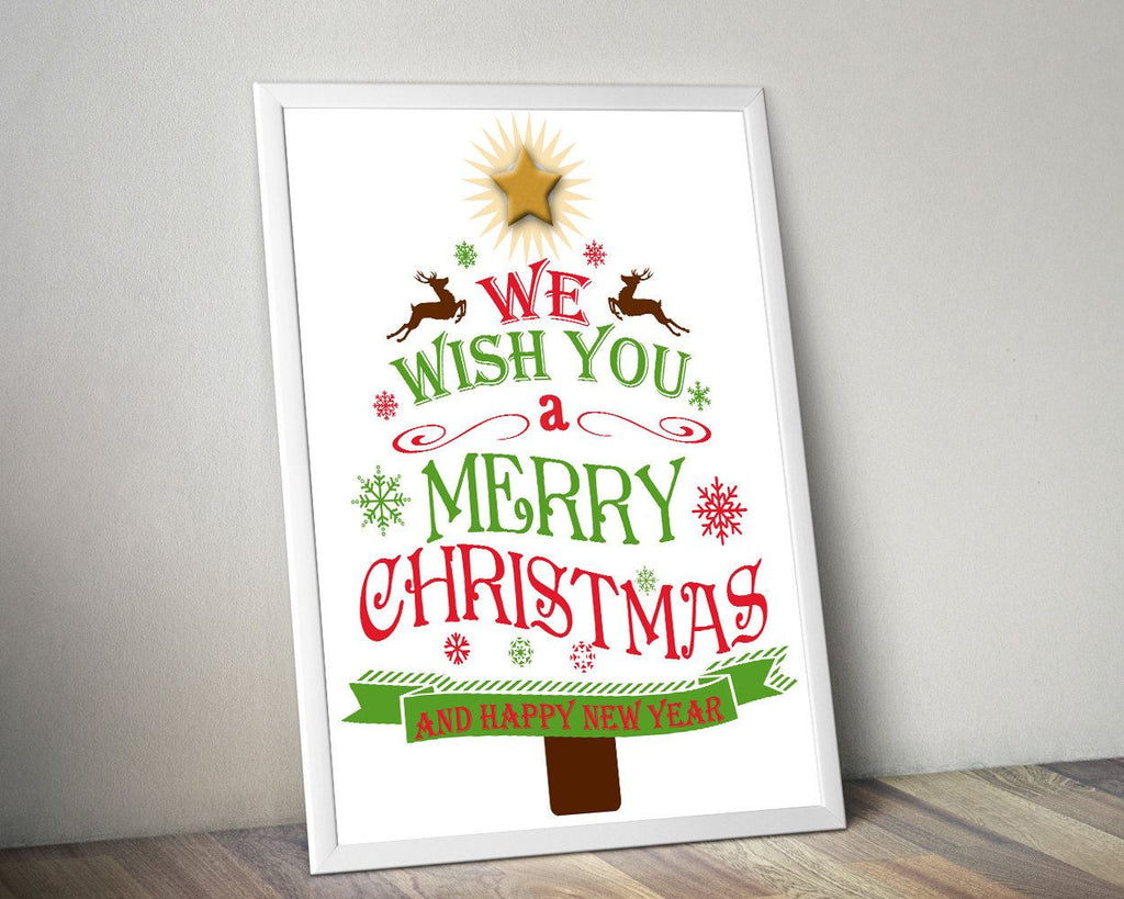 Wall Art Merry Christmas Digital Print Merry Christmas Poster Art Merry Christmas Wall Art Print Merry Christmas Christmas Art Merry tree - Digital Download