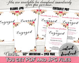 Bohemian Flowers Bridal Shower Engagement Party Invitation Editable in Pink And Red, editable pdf, floral boho, prints, party décor - 06D7T - Digital Product