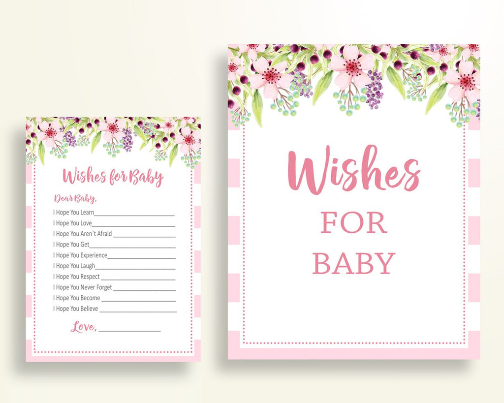 Wishes For Baby Baby Shower Wishes For Baby Pink Baby Shower Wishes For Baby Baby Shower Flowers Wishes For Baby Pink Green prints 5RQAG - Digital Product