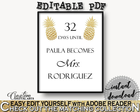 Days Until Becomes Bridal Shower Days Until Becomes Pineapple Bridal Shower Days Until Becomes Bridal Shower Pineapple Days Until 86GZU - Digital Product