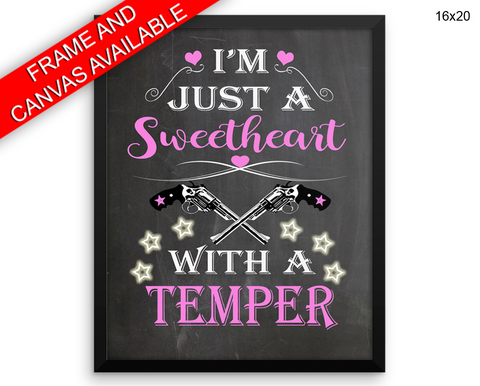 Sweetheart Print, Beautiful Wall Art with Frame and Canvas options available Office Decor