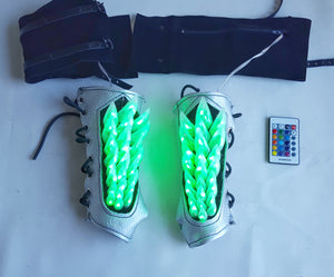 Light Up Spine Bracers in Silver Holo