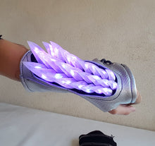 Load image into Gallery viewer, Light Up Spine Bracers in Silver Holo