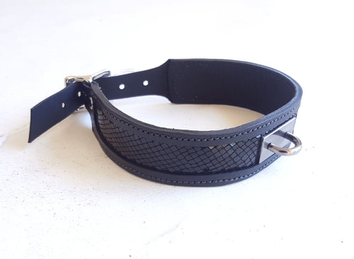 Black Fire BDSM Leather Collar