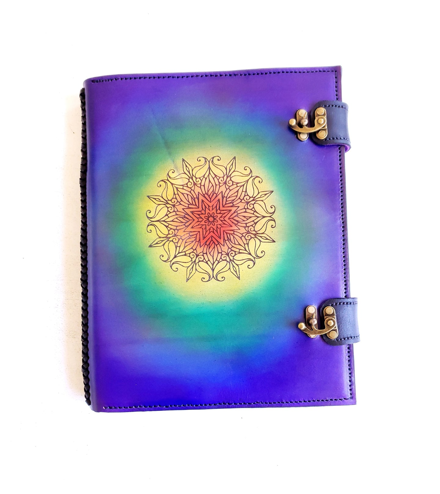 Large Rainbow Mandala Journal