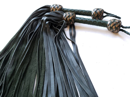 Hunter Green Flogger with Bronze Accents