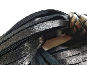 Black and Silver Suede Floggers