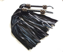 Load image into Gallery viewer, Black and Silver Suede Floggers