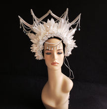 Load image into Gallery viewer, Crystal Queen Crown - Crystal Headdress with Antlers