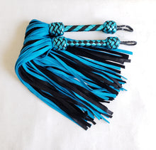 Load image into Gallery viewer, Turquoise and Black Elk Flogger- Made to Order