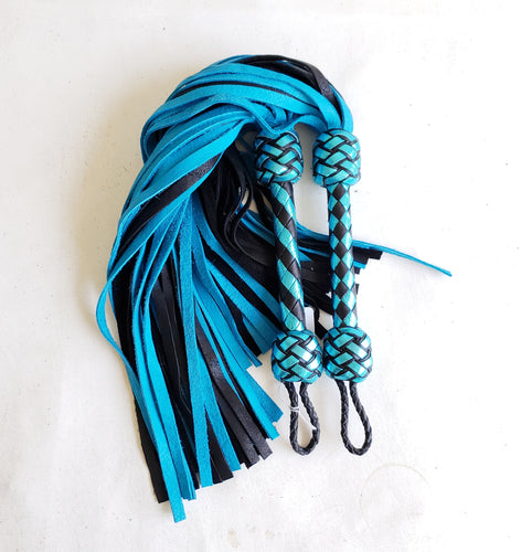 Turquoise and Black Elk Flogger- Made to Order
