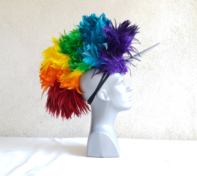 Rainbow Unicorn Headdress - Mini