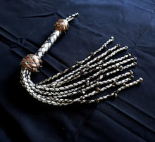Load image into Gallery viewer, Repentance- Metal Skull Cat O Nine Tails- Made to Order