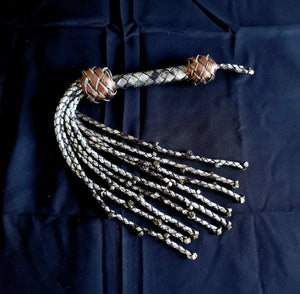Repentance- Metal Skull Cat O Nine Tails- Made to Order