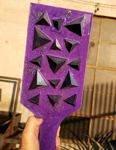 Pyramid Spiked Paddle in Purple and Rainbow
