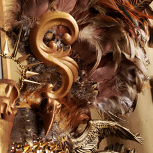Load image into Gallery viewer, Valkyrie Feather Headdress - Festival Headdress, Mardi Gras Headress