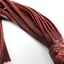 Load image into Gallery viewer, Black Cherry Bison Floggers- Made to Order