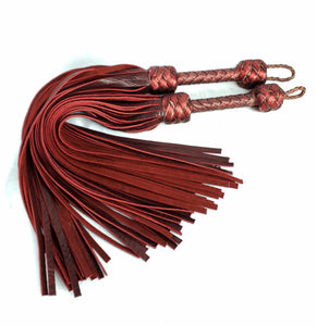 Black Cherry Bison Floggers- Made to Order