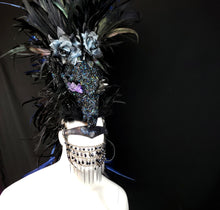 Load image into Gallery viewer, The Seer Headdress- Horned Headdress with Skulls, Crystals and rhinestones