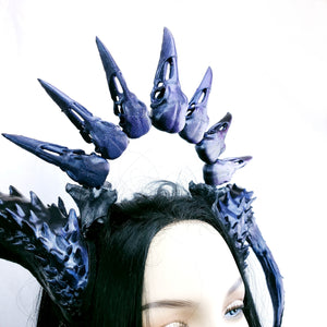 Morgana Horns and Skull Halo Headdress
