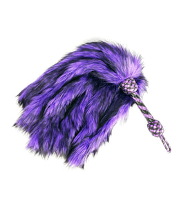 Black and Purple Fluffinator Fur Flogger - In stock