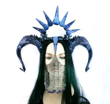 Load image into Gallery viewer, Morgana Horns and Skull Halo Headdress