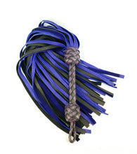 Load image into Gallery viewer, Black and Purple Elkskin Flogger