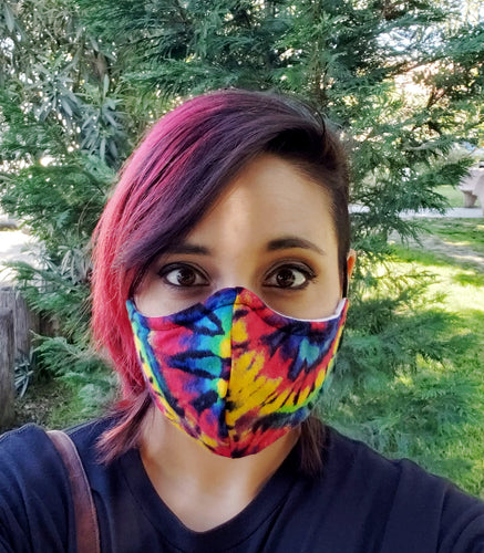 Rainbow Soft Cotton Fabric Face Mask