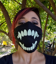 Load image into Gallery viewer, Glow in the Dark Fang Cloth Face Mask
