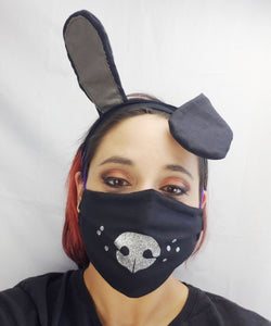 Puppy Face mask and Ear Saver headband