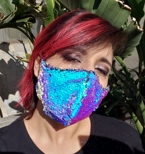 Ultra Colorshift Sequin Face Mask